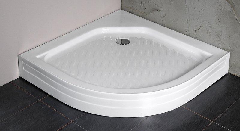 VÝPRODEJ - Sprchová vanička akrylátová, čtvrtkruh 90x90x15cm (C90VYP), fotografie 2/3