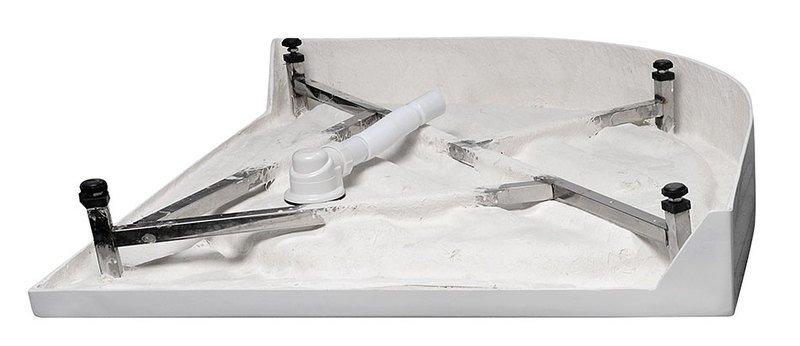 VÝPRODEJ - Sprchová vanička akrylátová, čtvrtkruh 90x90x15cm (C90VYP), fotografie 4/3