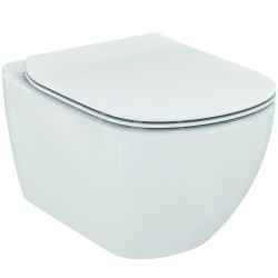 Tesi Závěsné WC se sedátkem SoftClose, rimless, bílá (T355101) - IDEAL STANDARD