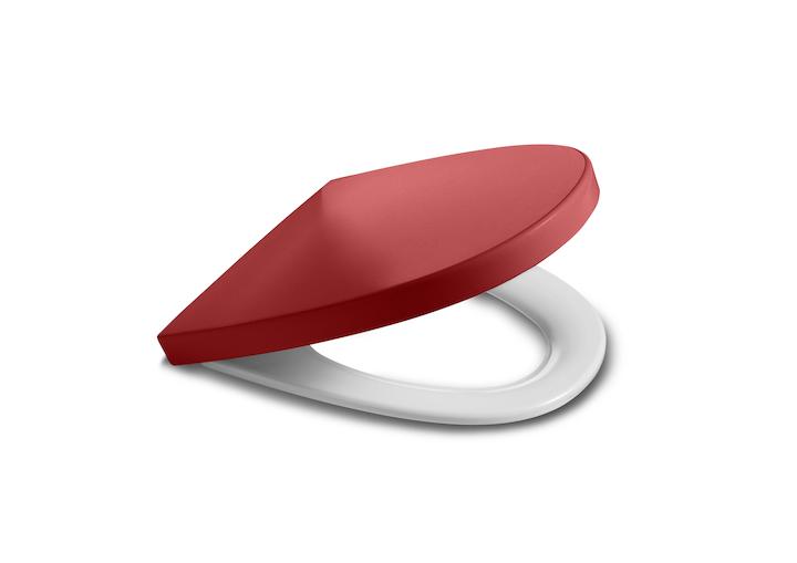 ROCA - Studio line - sedátko s poklopem KHROMA slowclose, červené (A801652F3T)