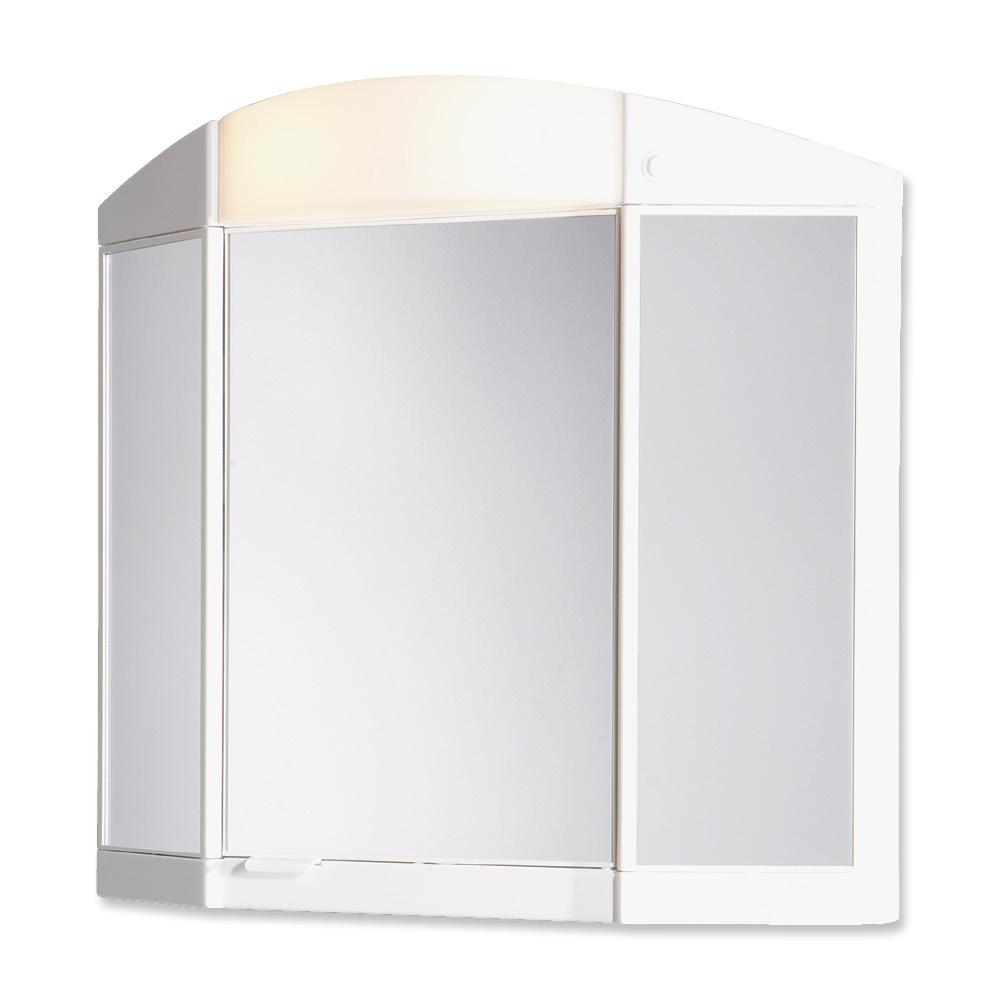 JOKEY ANTARIS bílá zrc.skříňka 65x60x16 plastová, 2x 7-11W E14 (185713220-0110)