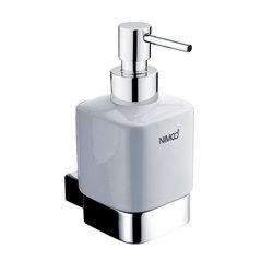 Kibo dávkovač na mýdlo, nádobka keramická, pumpička mosaz-chrom   KI 14031KL-26 (KI 14031KL-26) - NIMCO