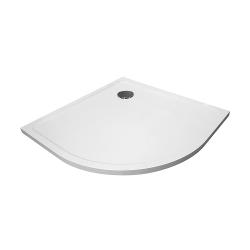 PRIM - Sprchová vanička čtvrtkruh 800x800 bílá BEZ NOH (PRIM8080R55M), fotografie 2/13