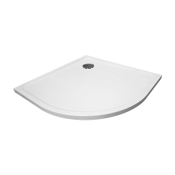PRIM - Sprchová vanička čtvrtkruh 800x800 bílá BEZ NOH (PRIM8080R55M), fotografie 6/13