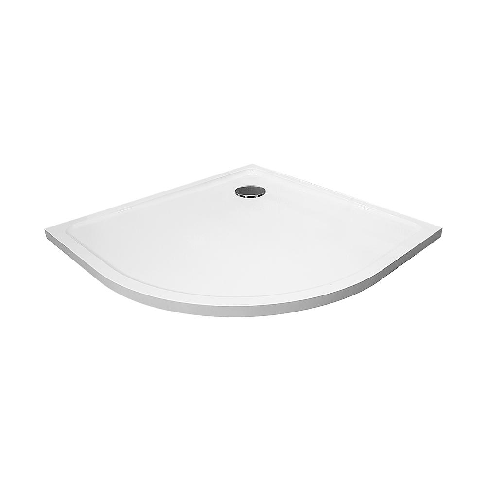 Sprchová vanička čtvrtkruh 900x900 bílá BEZ NOH (PRIM9090R55M)