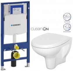 AKCE/SET/GEBERIT - SET Duofix pro závěsné WC 111.300.00.5 bez ovládací desky + WC CERSANIT ARTECO CLENON + SEDÁTKO (111.300.00.5 AT1)