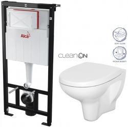 AKCE/SET/ALCAPLAST - SET Sádromodul - předstěnový instalační systém + WC CERSANIT ARTECO CLEANON + SEDÁTKO (AM101/1120 X AT1)