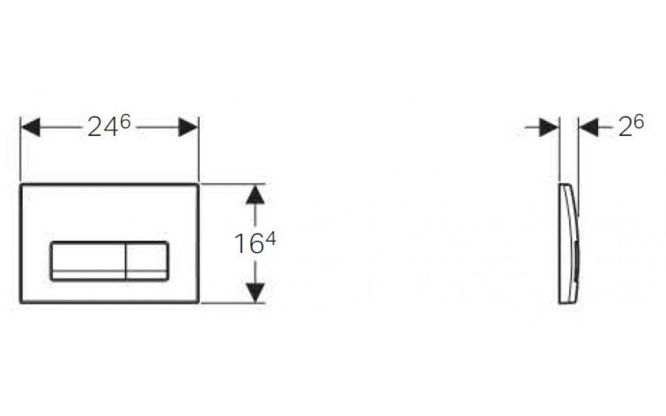 GEBERIT DuofixBasic s chromovým tlačítkem DELTA51 + WC CERSANIT ARTECO CLEANON + SEDÁTKO (458.103.00.1 51CR AT2)