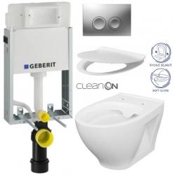 AKCE/SET/GEBERIT - SET KOMBIFIXBasic včetně ovládacího tlačítka DELTA 21 MAT pro závěsné WC CERSANIT CLEANON MODUO + SEDÁTKO (110.100.00.1 21MA MO1)