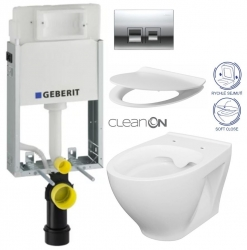 AKCE/SET/GEBERIT - SET KOMBIFIXBasic včetně ovládacího tlačítka DELTA 50 CR pro závěsné WC CERSANIT CLEANON MODUO + SEDÁTKO (110.100.00.1 50CR MO1)