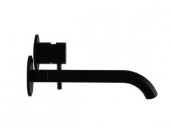 Umyvadlová podomítková páková baterie s výtokem 195mm, bez tělesa, černá mat  (100 1814 S) - STEINBERG, fotografie 8/7