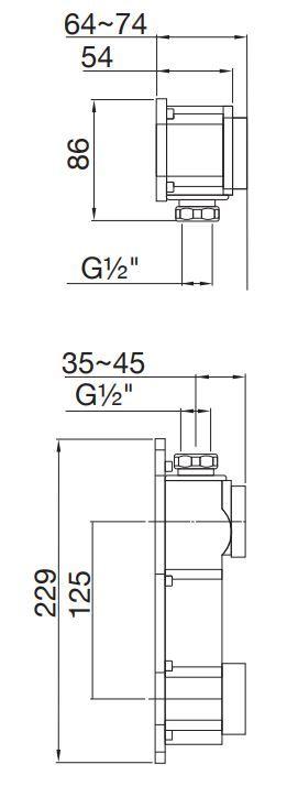 STEINBERG - STEINBOX Podomítkové montážní těleso 1/2