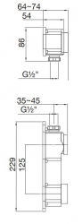 """STEINBOX Podomítkové montážní těleso 1/2"""" pro umyvadlové baterie, černá mat (010 1800 S) - STEINBERG, fotografie 2/1"""