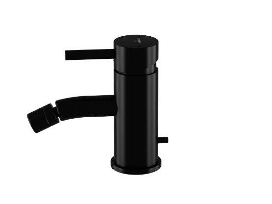 STEINBERG - Páková bidetová stojánková baterie s výpustí, černá mat  (100 1300 S)