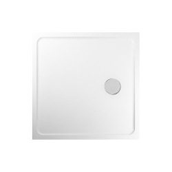 PRIM - Sprchová vanička čtverec 900x900 bílá BEZ NOH (PRIM9090M)