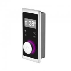 STEINBERG - NEW - iFlow - Plně elektronický ventil s digitálním displejem, 4 služby, černá / chrom   (390 4645)