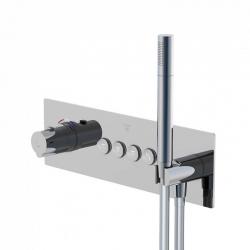STEINBERG - Podomítková termostatická souprava se systémem PUSHTRONIC, 4 výstupy (390 4242)