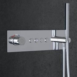 STEINBERG - Podomítková termostatická souprava se systémem PUSHTRONIC, 4 výstupy (390 4242), fotografie 12/8