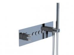 STEINBERG - Podomítková termostatická souprava se systémem PUSHTRONIC, 4 výstupy (390 4242), fotografie 8/8