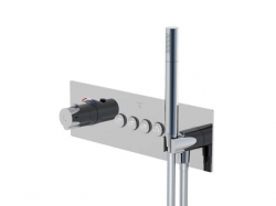 STEINBERG - Podomítková termostatická souprava se systémem PUSHTRONIC, 4 výstupy (390 4242), fotografie 4/8