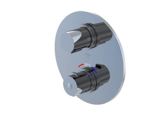 STEINBERG Podomítková termostatická baterie 2-cestná /bez montážního tělesa/, chrom 100 4133 1