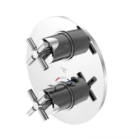 STEINBERG - Podomítková termostatická baterie /bez tělesa/, 2 výstupy, chrom (250 4133)