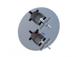 STEINBERG - Podomítková termostatická baterie /bez tělesa/, 2 výstupy, chrom (250 4133), fotografie 8/6