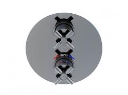 STEINBERG - Podomítková termostatická baterie /bez tělesa/, 2 výstupy, chrom (250 4133), fotografie 6/6