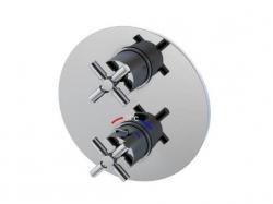 STEINBERG - Podomítková termostatická baterie /bez tělesa/, 2 výstupy, chrom (250 4133), fotografie 4/6