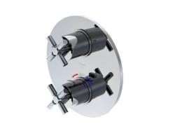 STEINBERG - Podomítková termostatická baterie /bez tělesa/, 2 výstupy, chrom (250 4133), fotografie 2/6