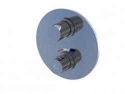 STEINBERG - Podomítková termostatická baterie 3-cestná /bez montážního tělesa/, chrom (100 4123 1), fotografie 4/5