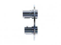 STEINBERG - Podomítková termostatická baterie 3-cestná /bez montážního tělesa/, chrom (100 4123 1), fotografie 2/5