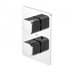 STEINBERG - Podomítková termostatická baterie /bez tělesa/, 3 výstupy, chrom (230 4123)