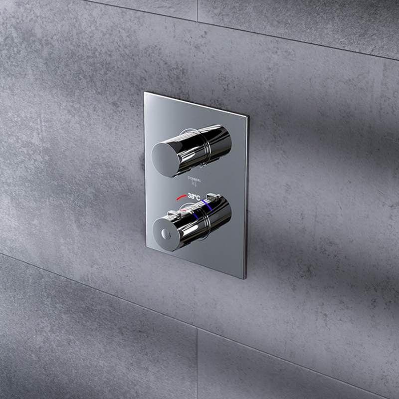 STEINBERG - Podomítková termostatická baterie /bez montážního tělesa/, chrom (120 4102 1)