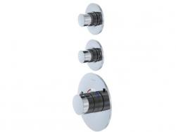 STEINBERG - Podomítková termostatická sprchová baterie, 2 výstupy, chrom (100 4320)