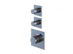 STEINBERG - Podomítková termostatická baterie, 2 ventily, chrom (120 4320)