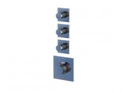 STEINBERG - Podomítková termostatická sprchová baterie, tři ventily, chrom (120 4330)