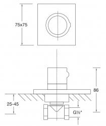 STEINBERG - Podomítkový ventil, chrom (120 4500 1), fotografie 12/6