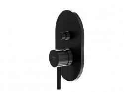 Podomítková páková baterie pro vanu/sprchu s přepínačem, černá mat (100 2103 S) - STEINBERG