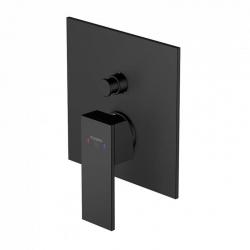 Podomítková páková baterie pro vanu/sprchu s přepínačem, černá mat (160 2103 S) - STEINBERG