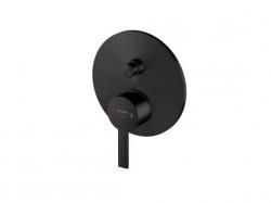 Podomítková páková baterie pro vanu/sprchu s přepínačem, černá mat (260 2103 S) - STEINBERG