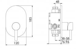 STEINBERG - Podomítková jednopáková směšovací baterie pro vanu/ sprchu, chrom (100 2243), fotografie 4/2