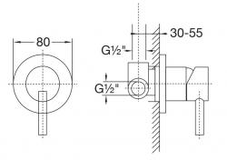 """STEINBERG - Podomítková páková baterie včetně montážního tělesa 1/2"""", chrom (100 2250), fotografie 12/6"""