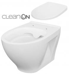 SET ZÁVĚSNÁ WC MÍSA MODUO CLEANON + WC SEDÁTKO  (K701-262) - CERSANIT