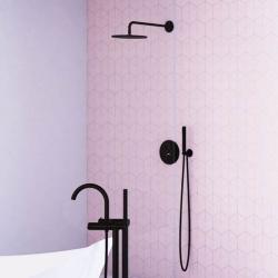 Hlavová sprcha 250x8mm, Easy-clean systém, černá mat (100 1686 S) - STEINBERG, fotografie 4/3