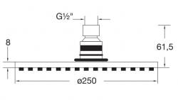 Hlavová sprcha 250x8mm, Easy-clean systém, černá mat (100 1686 S) - STEINBERG, fotografie 6/3