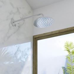 STEINBERG - Hlavová sprcha 250x8mm, Easy-clean systém, kartáčovaný nikl  (100 1686 BN), fotografie 2/2