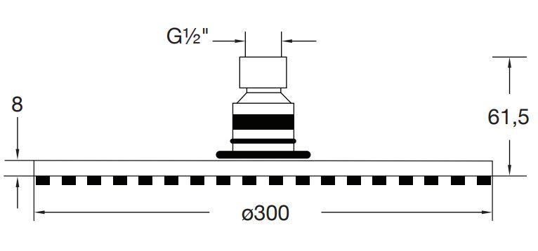 STEINBERG - Hlavová sprcha 300x8 mm, Easy-clean systém, chrom (100 1688)