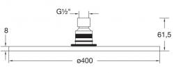 STEINBERG - Hlavová sprcha 400x8 mm, Easy-clean systém, chrom (100 1689), fotografie 8/4