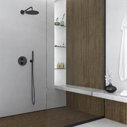 Nástěnné sprchové rameno 450mm, černá mat  (100 7910 S) - STEINBERG, fotografie 4/5